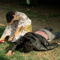 A Woman Grieves over Her Dead Boyfriend, Stabbed in Chapultepec Park While Resisting Robbers, Mexico City, 1985