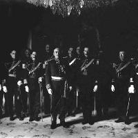 General Víctoriano Huerta, Interim President of the Republic, and his Military High Command, Mexico City, 1914.