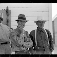 Farmers at field day, U.S. Dry Land Experiment Station, Akron, Colorado. October, 1939.
