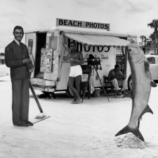 beach-photos-with-fish-daytona-beach-florida-1954