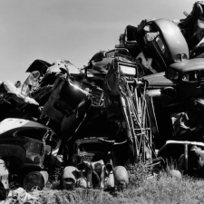 Pile of Junked Cars, West Palm Beach, Florida, 1954