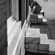 woman-on-steps-baltimore-maryland-1954