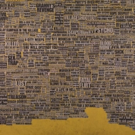 Untitled, 2007, Collage on wood, 70 x 70 inches (177.8 x 177.8 cm)