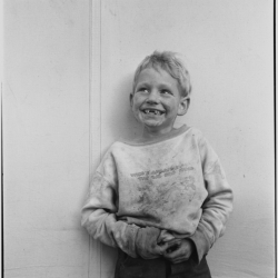 Migrant child in Shafter camp, Farm Security Administration. California. 1938