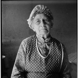Soper grandmother, who lives with family. FSA borrower. Willow Creek area. Malheur County, Oregon. October, 1939.