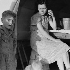 Calipatria, Imperial Valley, In Farm Security Administration (FSA) emergency migratory labor camp. February, 1939.