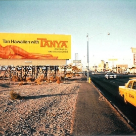 Tanya-Billboard on the Strip, Las Vegas, 1968