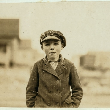 "Gastonia, N.C. Boy from Loray Mill. ""Been at it right smart two years."" Gastonia, North Carolina. 1908"