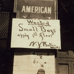"""Boy Wanted"" Sign. West 19[th] Street. New York, New York (State). 1916"