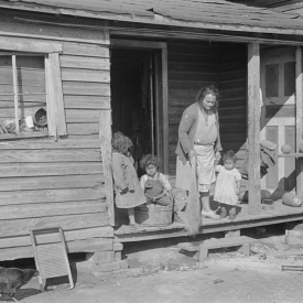 Mixed-breed Indian family, white and Negro, in old house near Pembroke Farms, North Carolina.