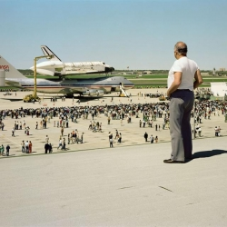 The Space Shuttle Columbia Lands at Kelly Air Force Base, San Antonio, Texas, March 1979