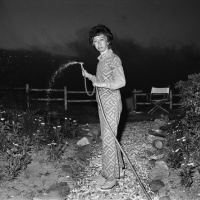 Lucy Watering at Night, 1973