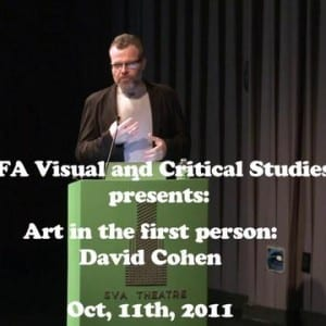 """ASX.TV: David Cohen – """"Artists' Rights and Wrongs: Property and Propriety, Invention and Intention"""" (2011)"""