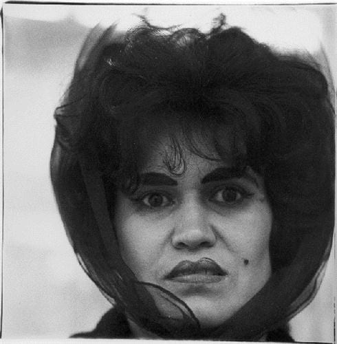 diane arbus Puerto Rican woman with a beauty mark, N.Y.C. (1965)