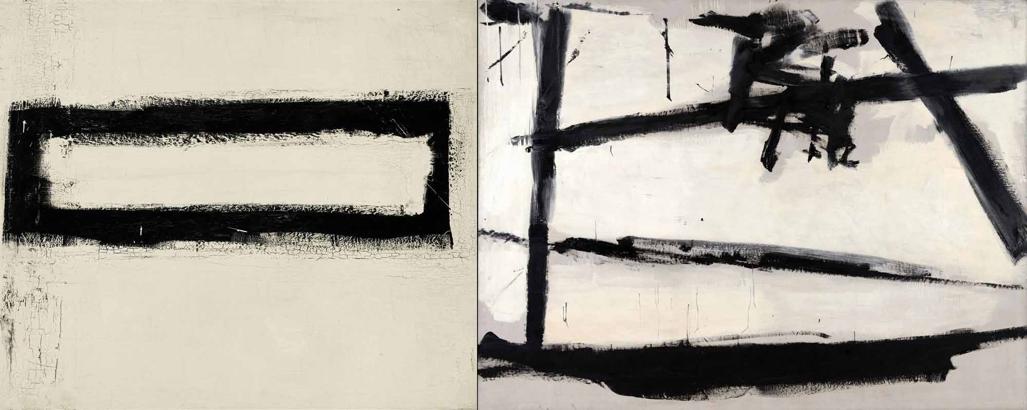 franz kline discussing black and white 1960 asx. Black Bedroom Furniture Sets. Home Design Ideas