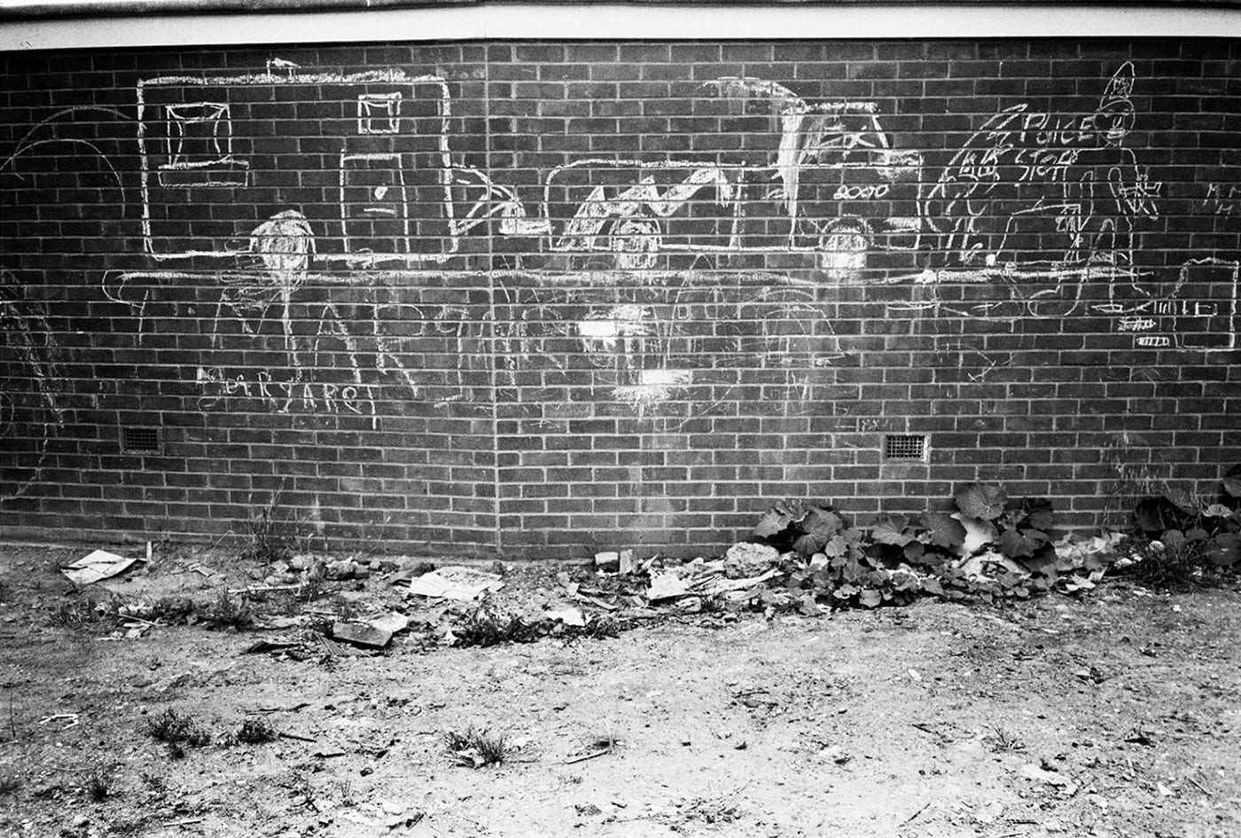 Travellers Site, Post-Eviction, Camden Town, 1985 C-Print Photograph (Custom)